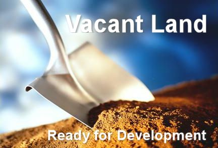 Vacant land ready for development.